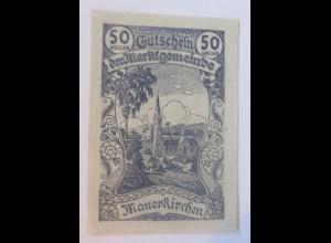 Notgeld, 20 Heller Österreich Der Marktgemeinde Mauerkirchen 1920 ♥ (43022)