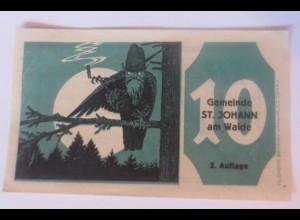 Notgeld, 10 Heller Österreich Gemeinde St.Johann am Walde 1921 ♥ (38554)