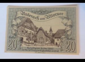 Notgeld, 20 Heller Österreich Gemeinde Unterach am Uttersee 1920 ♥ (46147)