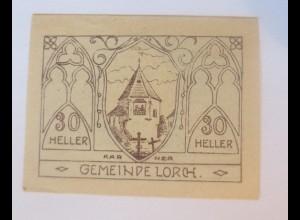Notgeld, 30 Heller Österreich Gemeinde Lorch 1920 ♥ (80121)