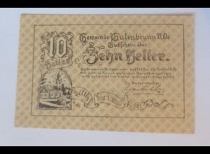 Notgeld, 10 Heller Österreich Gemeinde Gutenbrunn 1920 ♥ (52962)