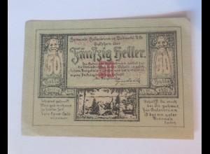 Notgeld, 50 Heller Österreich Gemeinde Gutenbrunn, 1921 ♥ (47843)