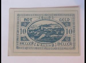 Notgeld, 10 Heller Österreich Gemeinde Lasberg, 1920 ♥ (55809)