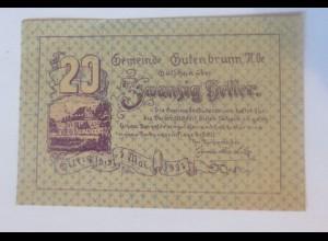 Notgeld, 20 Heller Österreich Gemeinde Gutenbrunn 1921 ♥ (8455)
