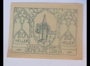 Notgeld, 20 Heller Österreich Gemeinde Lorch 1920 ♥ (60746)