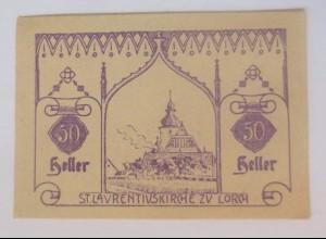 Notgeld, 50 Heller Österreich Gemeinde Hohenzell 1920 ♥ (24687)