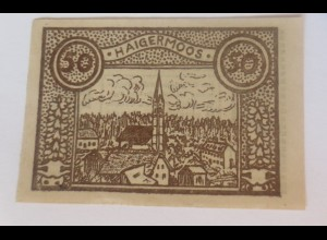 Notgeld, 50 Heller Österreich Gemeinde Haigermoos 1920 ♥ (43722)