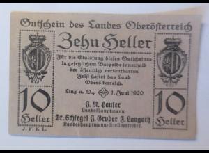 Notgeld, 10 Heller Österreich Gemeinde Linz 1920 ♥ (4804)