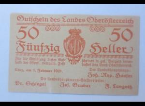 Notgeld, 50 Heller Österreich Gemeinde Linz 1921 ♥ (64849)