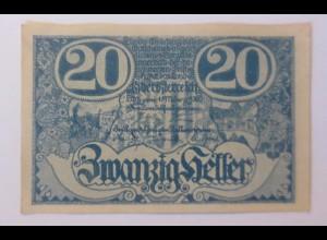 Notgeld, 20 Heller Österreich Gemeinde Linz 1920 ♥ (56593)