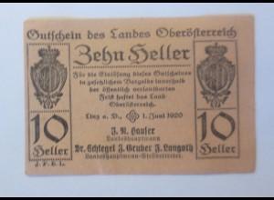 Notgeld, 10 Heller Österreich Gemeinde Linz 1920 ♥ (32801)