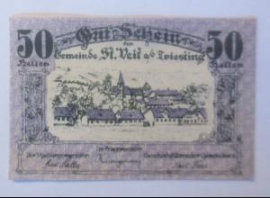 Notgeld, 50 Heller Österreich Gemeinde St. Beit a.d. Triefting 1920 ♥ (62467)