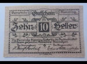Notgeld, 10 Heller Österreich Gemeinde Sierning 1920 ♥ (35942)