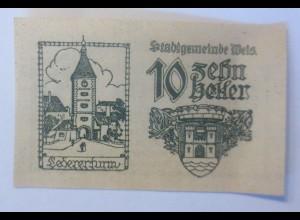 Notgeld, 10 Heller Österreich Gemeinde Wels 1920 ♥ (62652)