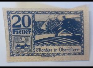 Notgeld, 20 Heller Österreich Mondsee in Oberösterreich 1920 ♥ (66039)