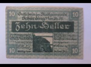 Notgeld, 10 Heller Österreich Stadtgemeinde Schärding 1920 ♥ (27352)