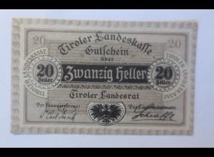 Notgeld, 20 Heller Österreich Stadt Innsbruck 1920 ♥ (22496)