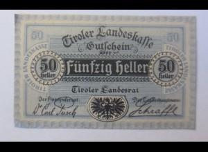 Notgeld, 50 Heller Österreich Stadt Innsbruck 1920 ♥ (55124)