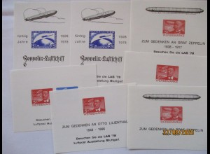 Zeppelin 7 Vignettenblöcke 1978 (3489)