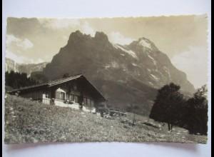 Bern, Hütte bei Grindelwald, Hörnli und Eiger (37108)