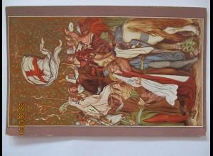 Ritter Mittelalter Sankt Elisabeth, Ritter, ca. 1910 (9466)