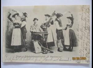 Musik Hausmusik Volksmusik Zither Doppelhalsgitarre Schuhplattler 1903 (27424)