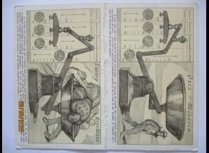 Politik Italien Währung Lira Waage, Doppelkarte 1919 (38518)