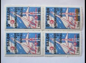 Toulouse 1965, Salon Aeronautique, Concorde, postfrischer Viererblock (26810)