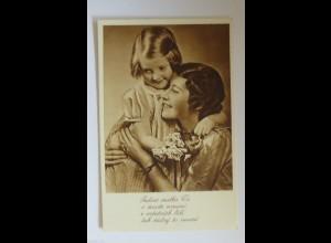 Muttertag, Blumen, Kinder, Mode, Gratulieren, 1930 ♥ (34432)