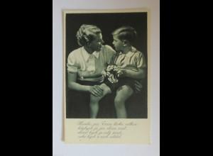 Muttertag, Kinder, Mode, Blumen,Gratulieren, 1930 ♥ (34436)