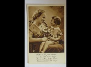 Muttertag, Kinder, Blumen,Gratulieren, 1930 ♥ (34437)
