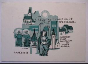 Österreich, Faakersee, Kaiser Maximilian, Ballonpost 1969