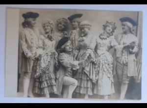 Fotokarte, Frauen, Männer, Mode, Barock, 1907 ♥ (15717)