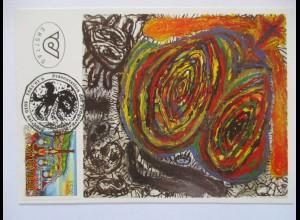 Kunst Peter Pongratz, Königin, Sonderkarte 1992 (71596)