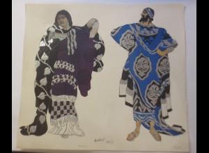 Alter Druck Liho Phedre, Thesee, Frankreich, Geprägt, 1923,Bakot ♥