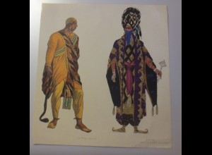 Alter Druck Liho Le Pirate Venitien, Costume, Joseph Frankreich, 1923,Bakot ♥