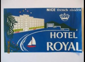 Frankreich Nice Kofferaufkleber Hotel Royal postfrisch (64489)