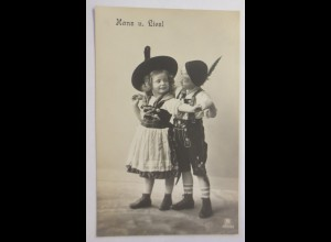 Kinder, Mode, Trachten, Hans und Liesl, 1912 ♥ (59505)