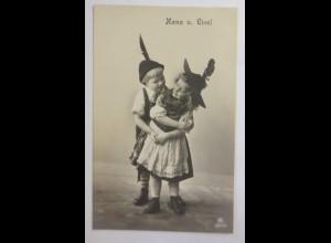 Kinder, Mode, Trachten, Hans und Liesl, 1912 ♥ (28239)