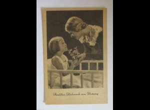 Muttertag, Kinder, Gratulieren, Blumen, 1930 ♥ (34421)