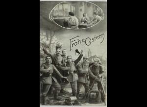 Ostern, Soldaten, Familie, Ostereier, 1916 ♥ (7316)