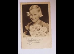 """""""Muttertag, Kinder, Gratulieren, Blumen"""" 1938, ♥"""