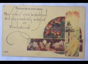 Thanksgiving, Mais, Äpfel, 1922 ♥ (17692)
