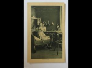 Muttertag, Kinder, Mode, Wiege, 1930 ♥ (34435)