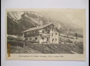 Berge Alpen Hallerangerhaus im Karwendel der Sektion Schwaben, ca. 1910 (31855)