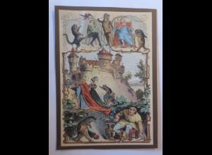 Märchen, Litho Druck, Der Gestiefelte Kater, 1900 ♥ (74196)