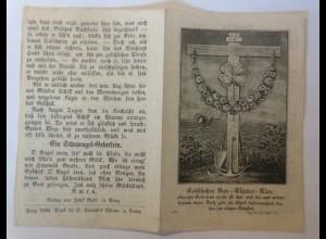 Druck, Geistlicher Vier-Blätter-Klee,Schutzengel Gebet, Jahr 1853♥(74197)