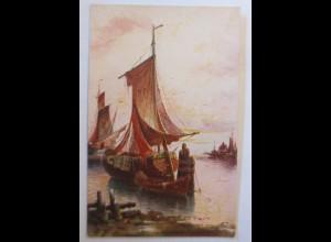 Segelschiff, Meer, 1920 ♥ (74213)