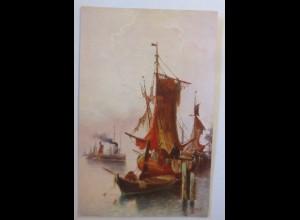Segelschiff, Meer, 1920 ♥ (74214)