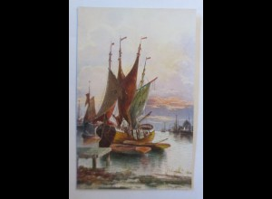 Segelschiff, Meer, 1920 ♥ (74215)